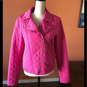 BETSEY JOHNSON hot pink quilted jacket